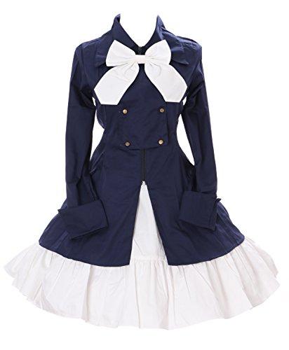 Kawaii-Story JL de 654oscuro de color azul vintage Chaqueta Blazer & Rock Gótico Lolita Disfraz Cosplay