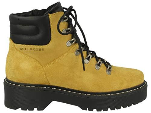 Bullboxer Donna Polacchine, Signora Stivali,Chukka Boot,Desert Boot,Half Boots,Stivali,Stivaletti Stringate,con Cerniera,Gelb,37 EU / 4 UK