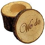 uchic 2piezas de madera impreso We Do Love corazón Shabby Chic rústico boda anillo portador caja rústico boda anillo portador almohada caja