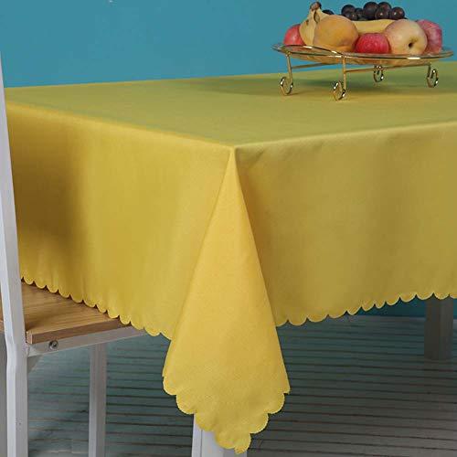 Kswd tovaglie, tovaglia colori luminosi hotel ristorante occidentale bar rettangolare, giallo,180x300cm