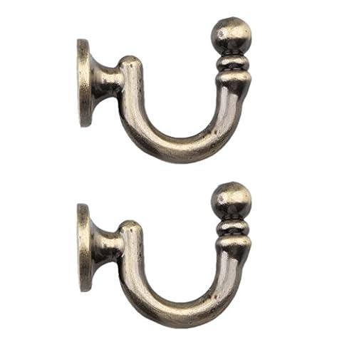 Gazechimp 2pcs Vintage Raffhalter für vorhänge , Metall - Bronze
