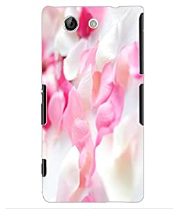 ColourCraft Lovely Flowers Design Back Case Cover for SONY XPERIA Z4 MINI / COMPACT