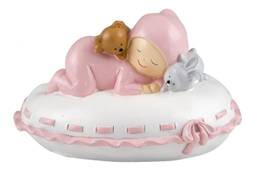 Mopec Y177.2 - Pastel Figure Baby Piggy Bank Pillow, 16 x 10 x 14 cm, Pink