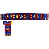 """Echarpes FC. Barcelona 2017-2018 - Produit Officiale sous Licence - """"FCBARCELONA"""" 140 x 20 cm."""