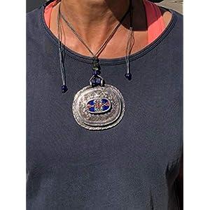 Ethnos Barcelona – Afghanischer Silberanhänger. Länge: einstellbar