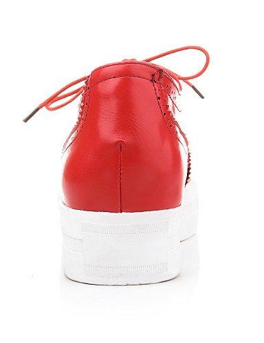 ZQ hug Scarpe Donna-Sneakers alla moda-Tempo libero-Zeppe / A punta / Stivali-Zeppa-Finta pelle-Nero / Rosso / Bianco / Tessuto almond , black-us5.5 / eu36 / uk3.5 / cn35 , black-us5.5 / eu36 / uk3.5  black-us5.5 / eu36 / uk3.5 / cn35