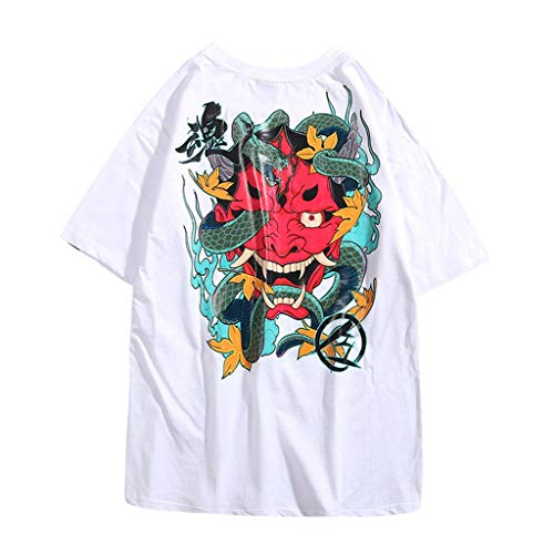 kolila Unisex Hip-Hop T-Shirts Tops Sommer Casual Graffiti Brief Print Streetwear Stil Pullover Tops Tee Herren Damen Reversible Block