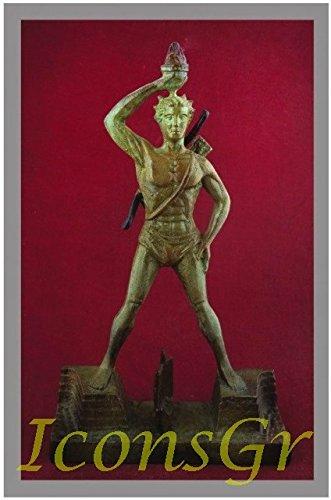 Antike griechische Bronze Museum Statue Replica der Koloss von Rhodos (1214) (Koloss-statue)