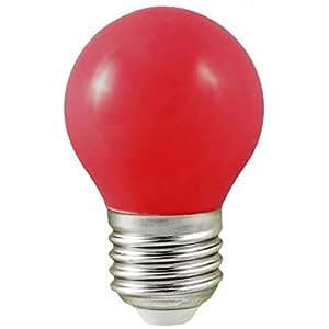 ampoule à led vision-el e27 bulb 0.5w rouge 230 volts