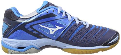 Mizuno Wave Stealth 3, Chaussures de Handball femme Bleu - Blau (DivaBlue/White/DressBlue)