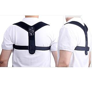 Fortuning's JDS® Posture Corrector, Back Braces for Women or Man Back Posture Corrector Posture Correction Back Support Brace Nylon Breathable Velcro Adjustable Belt Neck Pain Relief Average Size