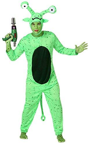 Generique Disfraz de alien verde hombre