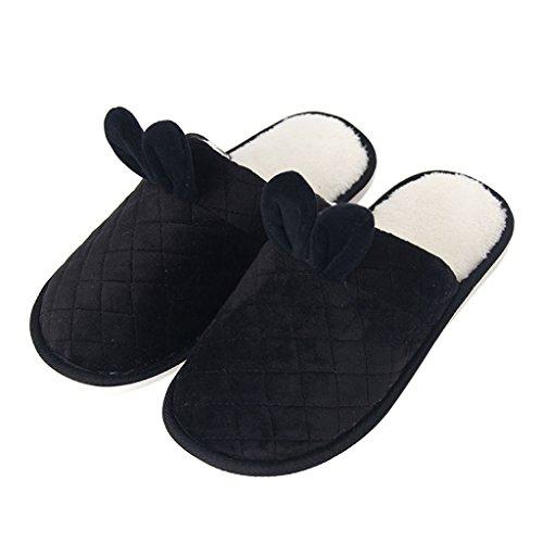 Chaussons DWW Pantoufles de Coton Intérieur à LIntérieur Plancher Épais Chaussures Anti-Dérapantes à la Main Pattern 2