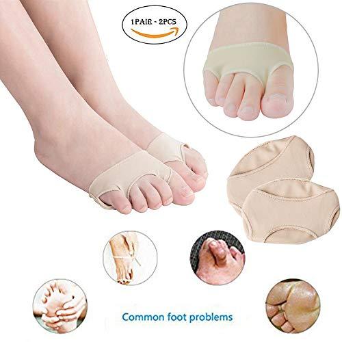 Almohadón de gel para el antepié, antidolor, plantillas para pies, almohadillas metatarsianas antimolienda, almohadillas para los pies, media alfombrilla de código, para dolor de pies, 2 unidades