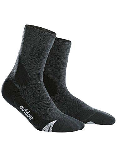 CEP Damen DYNAMIC + Outdoor Merino mid-cut Socken, Frauen, grau, Size EU 37-40 (UK 4.5-6.5)