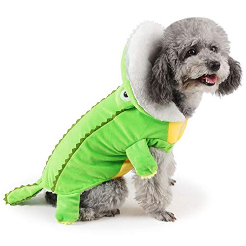 JNTM Halloween-Haustier-Hundekostüm, Halloween-Krokodil-Hundekostüm Cosplay Lustige Hundekrokodil-Kostüme Kleine Große Hundekleidung Hundeparty-Kleid Warme Outfits Kleidung,M -