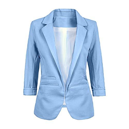 Dorical Blazer Damen 3/4 Längere Cardigan Elegant Blazer Leicht Dünn Bolero Jacke Coat Slim Fit...