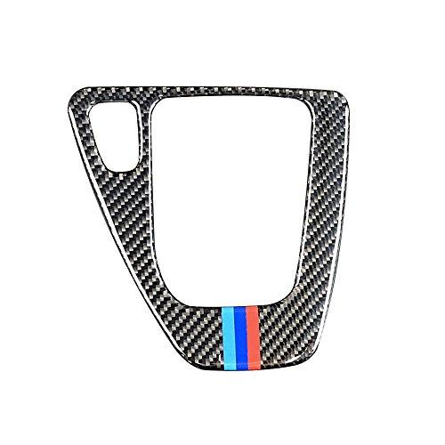 KKmoon Voiture en Fiber De Carbone Intérieur Garniture en Fiber De Carbone Boîte De Commande De Changement Panneau De Couverture Autocollant LHD Car Styling 3 Série Accessoires, Solid Color
