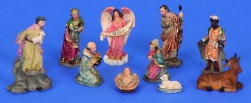 Modellhaus Krippenfiguren 11-teiliges Set Krippe Weihnachten Größe bis 5cm