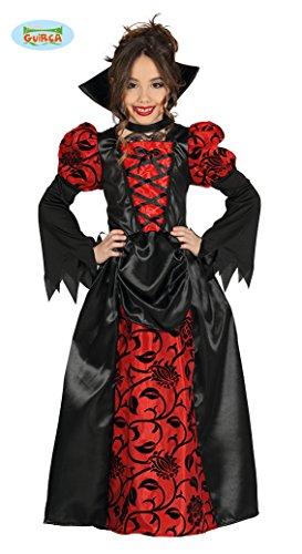 Imagen de disfraz de vampiresa roja para niña