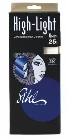 Sincelo Sinelco High-Light Wraps 250 mm, 25 Blatt, 25 Stück (Blatt-highlights)