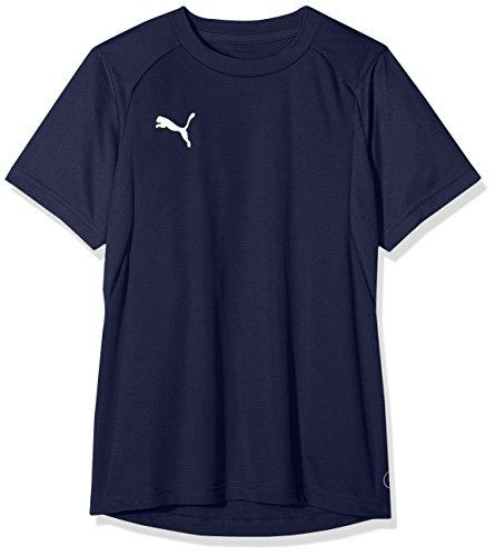 Puma Kinder Liga Training Jersey Jr T-Shirt, Peacoat White, 128 (Puma-peacoat)