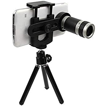 Mewa 12x Zoom Mobile Telescope Lens kit for All Mobile Camera with Tripod | DSLR Blur Background Effect [ Android & iOS Devices ]