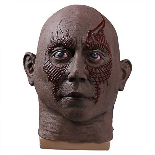 he Galaxy 2 Drax Die Zerstörer-Maske Der Sternenbaum Der Baumgeist Halloween Die Kapuze Requisiten Halloween Weihnachten Cosplay,Skin Color-OneSize ()