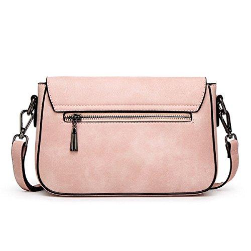 Estate E PU Autunno Delle Donne Di Personalità In Pelle Pacchetto Diagonale Pink