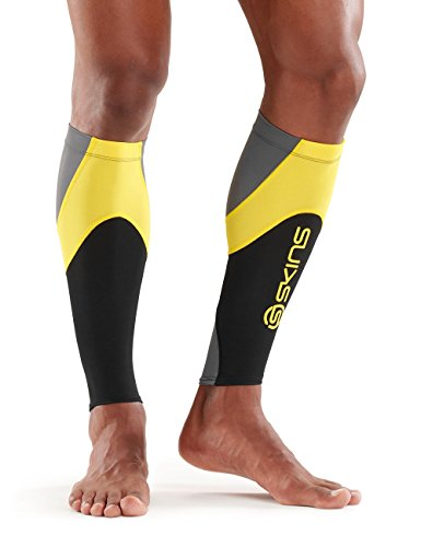 Skins Essentials Calf mallas MX, Negro/amarillo, XS, ES00040879238XS