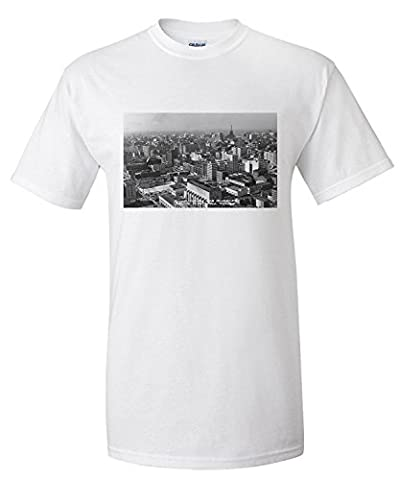 Los Angeles, CA Downtown View from City Hall Photograph (Premium T-Shirt)