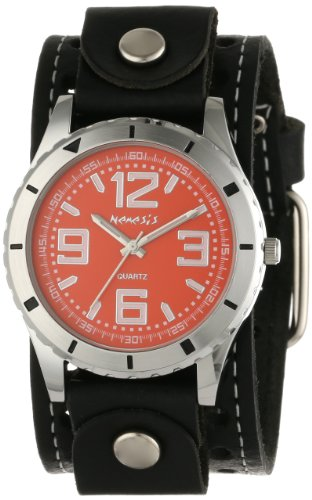 Nemesis Men's STH096R Black Collection Sporty Race Display Watch