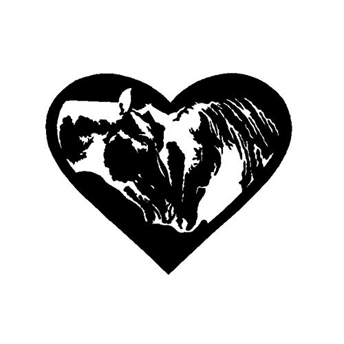 JXYY 18CM*14.7CM Equestrian Love Equine Lovers Horse Heart Fashion Car Sticker Decor Decal Vinyl Graphical -