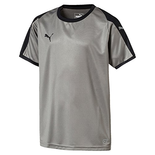PUMA Kinder Liga Jersey Steel Gray Black, 140
