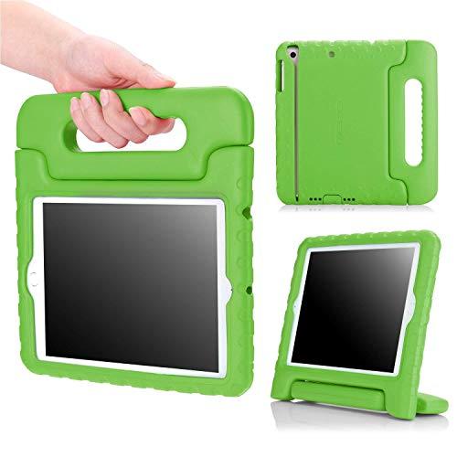 MoKo Hülle für iPad Mini 3/2 / 1 - Superleicht Eva Stoßfest Kinderfreundlich Kinder Schutzhülle mit umwandelbarer Handgriff Handle und Standfunktion, Grün (Nicht für Mini 4)