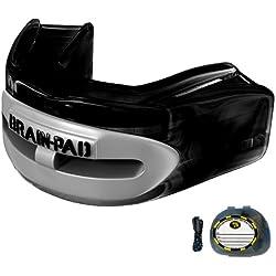 Brain-Pad Pro++ - Protector bucal/de la articulación mandibular, canal doble, negro/gris, para jóvenes