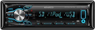Kenwood Electronics KMM-361SD sintonizador de CD/DVD para el coche - Radio para coche (FM, LW, MW, LCD, Negro, SD, 4x 50W)