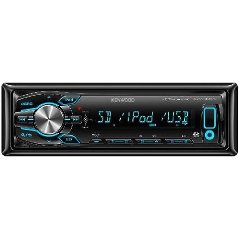 Kenwood Electronics KMM-361SD sintonizador de CD/DVD para el coche - Radio para coche (FM, LW, MW, LCD, Negro, SD, 4x