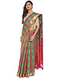 CLASSICATE From the house of The Chennai Silks Multicolor Traditional Silk Saree (CCMYSS10384 - Green & Red)