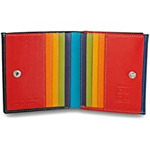 2f5c4634cbd95b Mehrfarbiges Portemonnaie in Leder mit Kartensteckfächer und Münzfach von DuDu  Schwarz