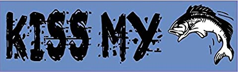 10in x 3in Kiss My Bass Fish Bumper magnet Vinyl Car magnetic magnets by StickerTalk®