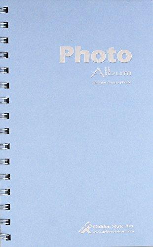 Foto-licht-frame (Golden State Art, Licht Blau Farbe Foto Album Buch-Stil, 60Taschen, Instax Frames Kollektion, für fuijufilm Instax Mini 7S 870902550s 8+ Film)