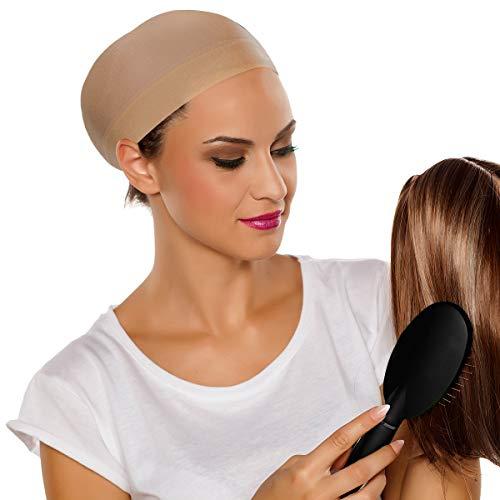 Scopri offerta per TRIXES Cuffietta in nylon beige di protezione per applicazione parrucche - 2 pezzi