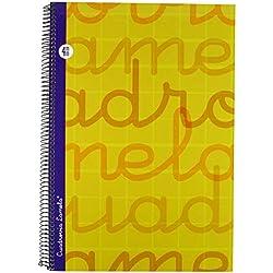 Lamela 7FTE004N - Cuaderno con espiral, tipo folio, color amarillo