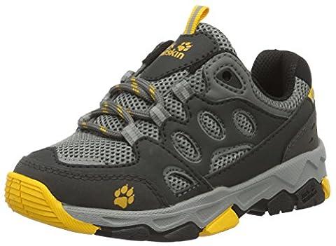 Jack Wolfskin Unisex-Kinder Mtn Attack 2 Low K Trekking-& Wanderhalbschuhe, Grau (Burly Yellow), 36 EU