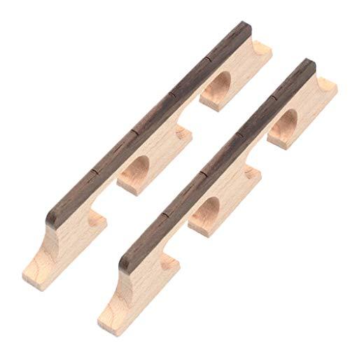 FLAMEER 2 Stücke 4 String Banjo Palisander Brücke Für Banjo Ersatzteile (Banjo Spielzeug)