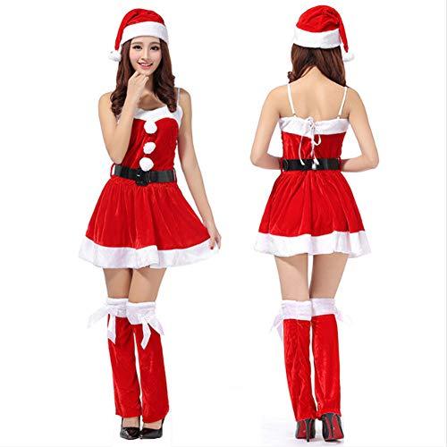 FAFY Weihnachten Frauen Sexy Santa Claus Christmas Festival Cosplay Kostüme Weibliche Reines Rotes Kleid Für (Weibliche Santa Kostüm)