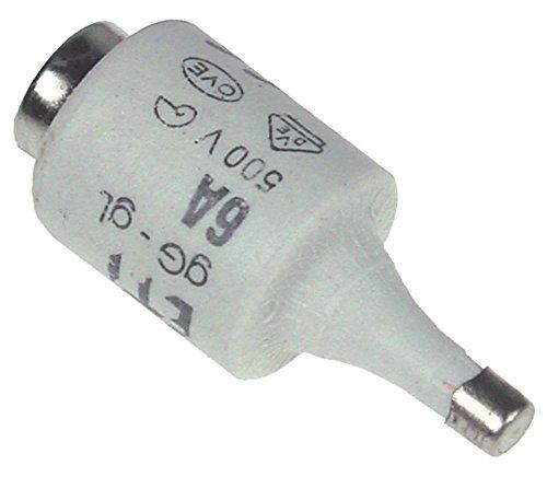 Sicherung Länge 50mm ø 22mm E27 Größe DII 500V 6A VPE 5 Stück -