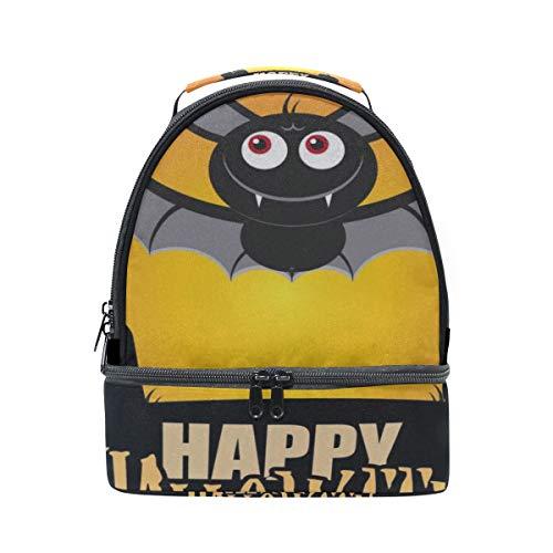 ry Eye Flying Bat Tragbare Schule Schulter Tote Lunchpaket Handtasche Kinder Doppel Lunchbox Wiederverwendbare Isolierte Kühler Für Frauen Student Travel Outdoor ()