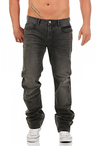 BIG SEVEN - DAN - CHICAGO WASH - Regular Fit - Übergrösse XXL - Herren Jeans Hose, Hosengröße:W44/L34 (Denim Wash Hose)